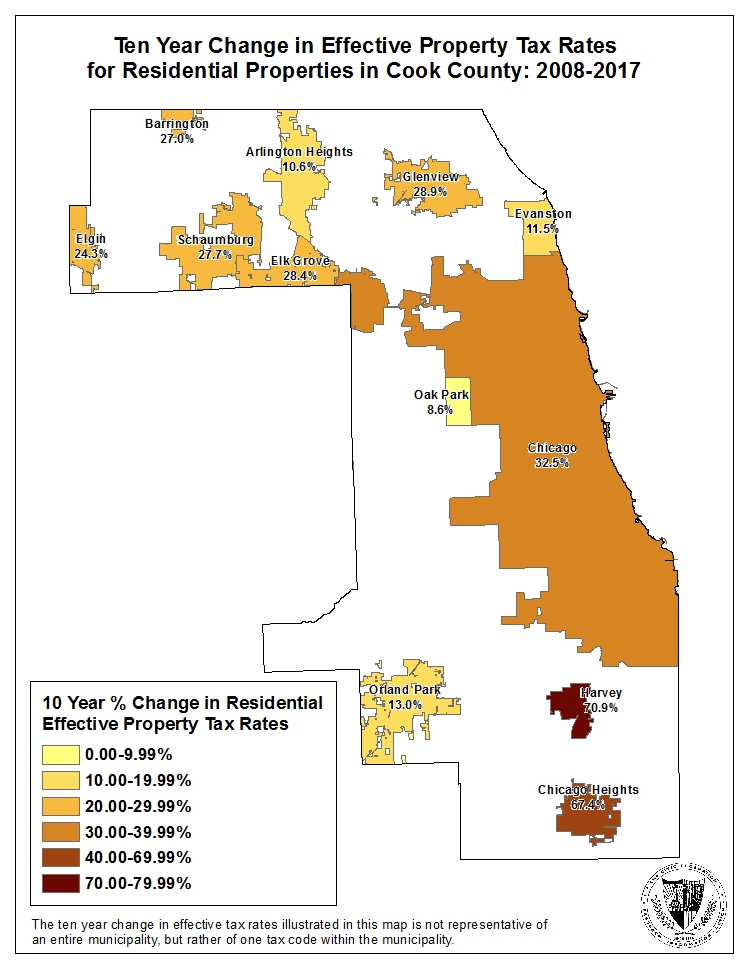 change in effective residential property tax rate cook county